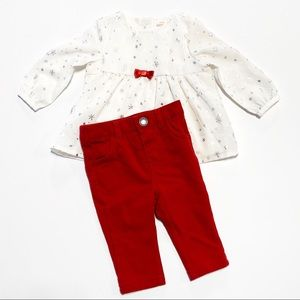 Cat & Jack 3-6M Holiday Outfit IN EUC
